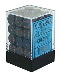 CHESSEX - Dados Dusty Blue/Copper 12mm  c/36
