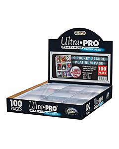 ULTRA PRO - Micas para carpeta 9 espacios Platinum STND Caja c/100