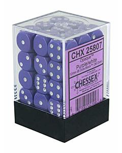 CHESSEX - Dados Purple/White 12mm  c/36