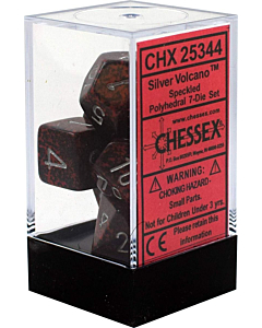 CHESSEX - Dados Poliedricos Silver Volcano