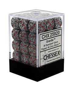 CHESSEX - Dados Granite 12mm  c/36
