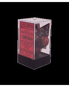 CHESSEX - Dados Poliedricos Black-Red/Gold