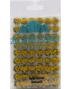 GEEK GAMING - 6mm Self Adhesive Static Grass Tufts x 100 Daffodil