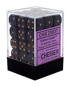 CHESSEX - Dados Golden Cobalt 12mm c/36