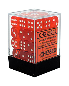 CHESSEX - Dados Orange/White 12mm c/36