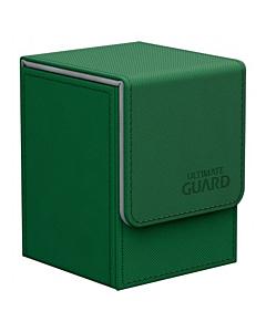 ULTIMATE GUARD - Flip Deck Case 100+ Standard Size XenoSkin Verde