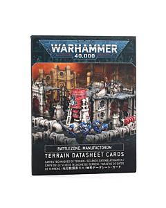 CARTAS - WH40K Battlezone Manufactorum Terrain Datasheet Cards (Inglés)