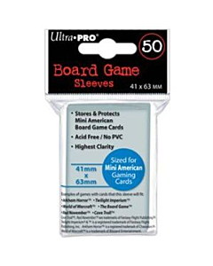 ULTRA PRO - Micas Mini American Board Game Sleeves 41mm/63mm c/50