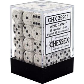 CHESSEX - Dados Arctic Camo 12mm  c/36