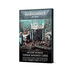 CARTAS - WH40K Battlezone Mechanicum Terrain  Datasheet Cards (Inglés)