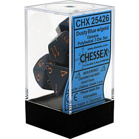 CHESSEX - Dados Poliedricos Dusty Blue/Copper