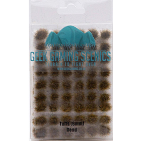 GEEK GAMING - 6mm Self Adhesive Static Grass Tufts x 100 Dead