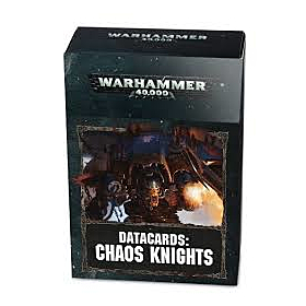 CARTAS - Datacards WH40K Chaos Knights (Ingles)