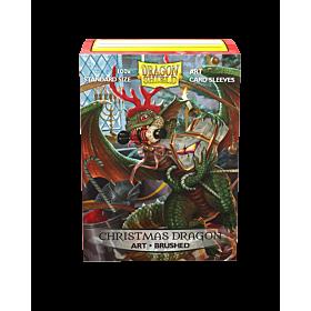 Dragon Shield - Micas STND Art Brushed Christmas Dragon c/100