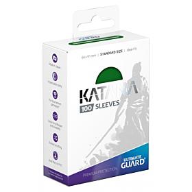 ULTIMATE GUARD - Katana Sleeves Standar Size Verde (100)