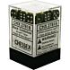 CHESSEX - Dados Black-Gold/Silver 12mm  c/36