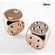 CHESSEX - Dados Par Metalicos Copper Plated 16mm