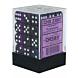 CHESSEX - Dados Purple/White Translucent 12mm c/36
