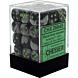 CHESSEX - Dados Black-Grey/Green 12mm  c/36