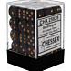 CHESSEX - Dados Black/Gold 12mm c/36